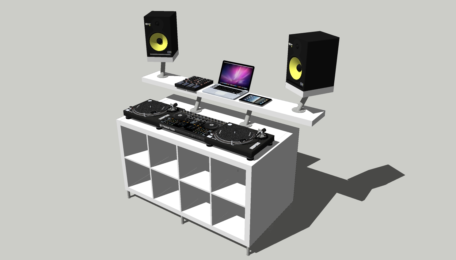 how to create a professional dj booth from ikea parts. Black Bedroom Furniture Sets. Home Design Ideas