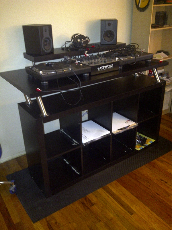 Here are a few other tables that might inspire you to build your own DJ table & How To: Create a Professional DJ Booth from IKEA Parts. - DJ TechTools