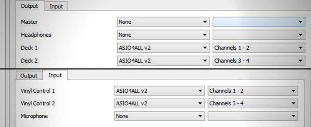 Routing the audio with the combined ASIO4ALL device