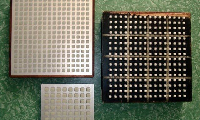 Daedalus's Monome's: at right, an early Monome two fifty six, below a