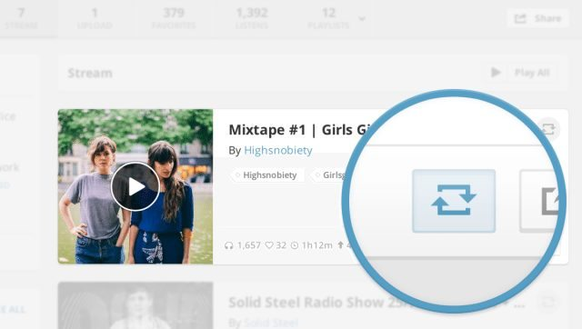 Mixclouds Repost feature creates a better alternative to upload mixes instead of using Soundcloud
