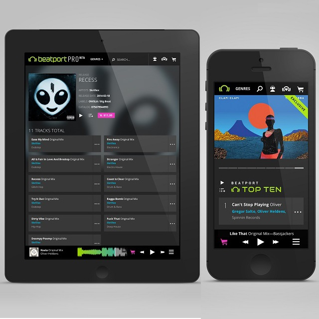 Beatport Pro is a rebranding and redesign of Beatport for DJs and Producers