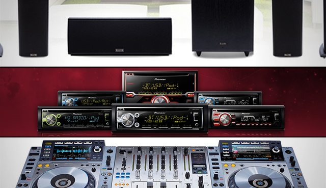 Pioneer's three product groups (home, car, DJ)