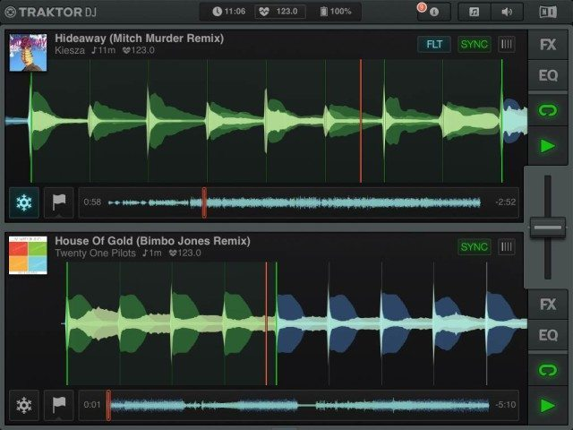 Traktor DJ Update 1.6.0 features cross app support through Audiobus and improved search algorithms.