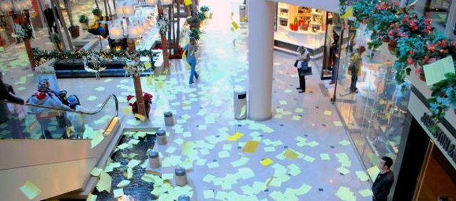 You're guaranteed one person will read these fliers: the person who has to clean it all up.