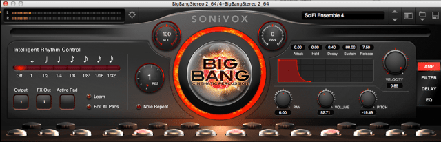 Sonivox Big Bang Cinematic 2.0 brings amazing high-tension drums and percussion to AMPS.