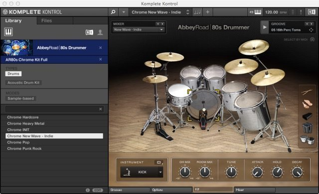 Abbey Road - 80s Drummer hosted inside the Komplete Kontrol software.