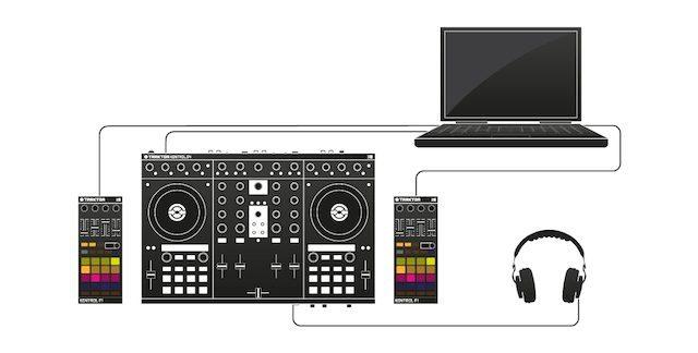 Kontrol S4 + F1 setup example