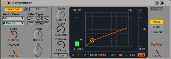 Ableton Live Vocal Compressor