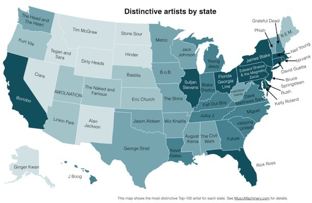 Top 100 Artist By State