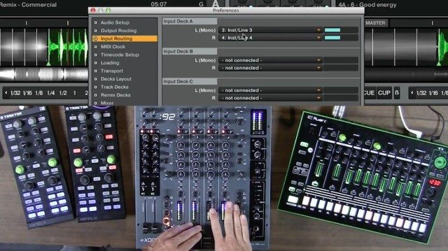 Traktor Audio Routing