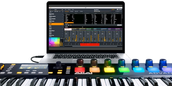 review akai advance 49 midi controller with vip vsti host software dj techtools. Black Bedroom Furniture Sets. Home Design Ideas