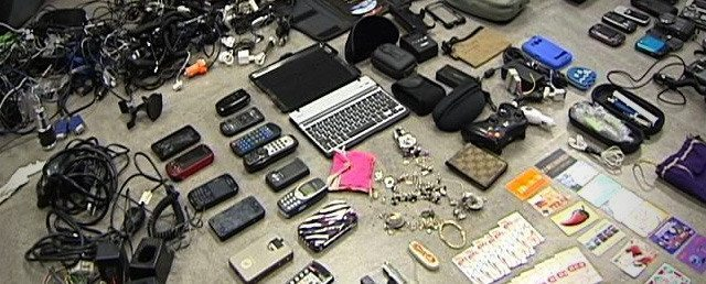 A cache of stolen goods recovered by police from a Craigslist ad
