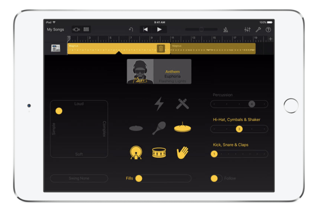 Garageband for iOS drummer