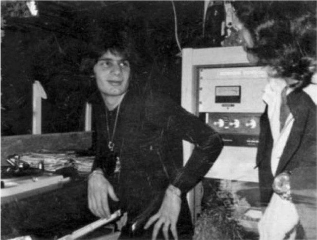 Legendary DJ Francis Grasso, with Thorens TD-124 turntables in the background
