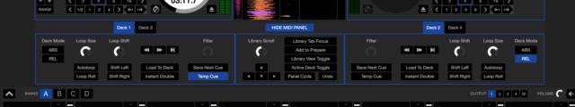 Serato DJ MIDI panel
