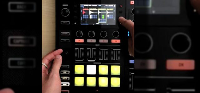 The Remix Deck step sequencer running on the Kontrol S8