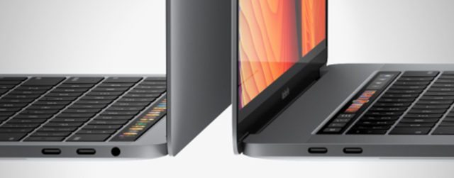 The ports on the new Macbook Pros