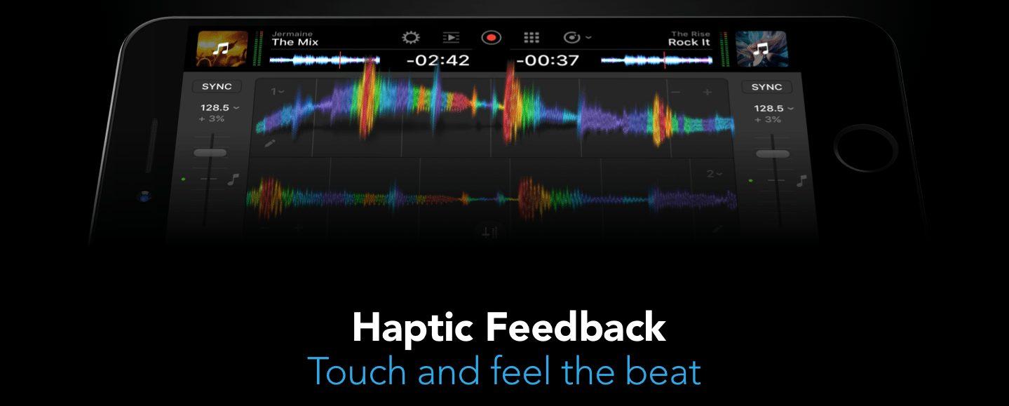 djay pro haptic feedback