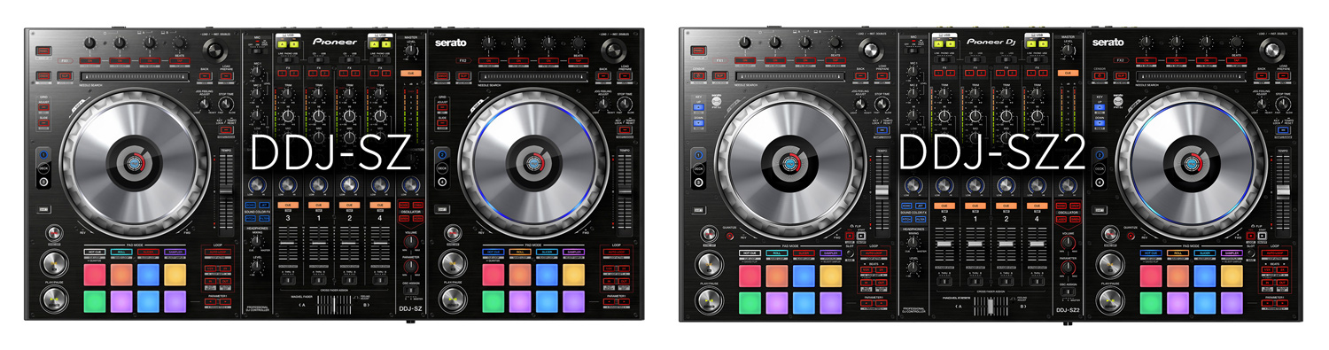 The two DDJ-SZ models compared (click to zoom)
