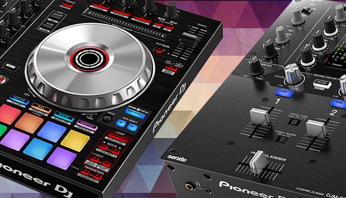 Pioneer DJ Launch DDJ-SR2 Controller + DJM-S3 Mixer - DJ