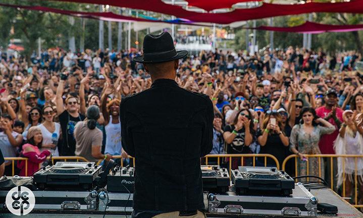 Marques Wyatt DJing at DEEP LA