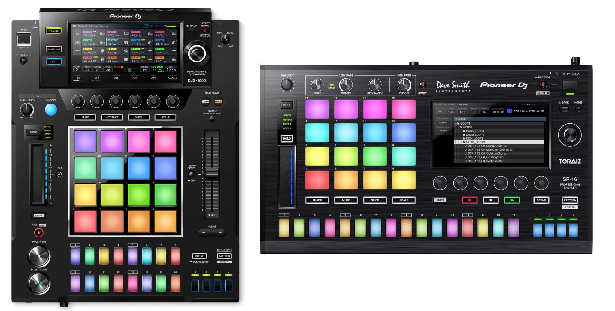The DJS-1000 alongside the original SP-16 (click to zoom)