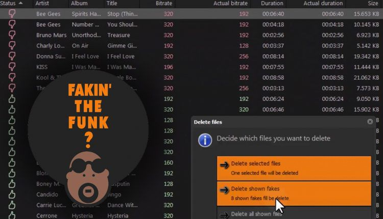 Fakin' the Funk mp3 detection algorithm