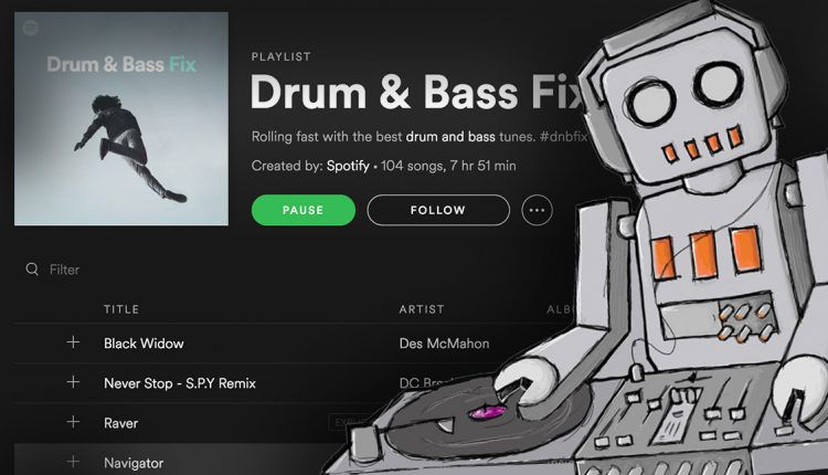 Auto mixing in Spotify