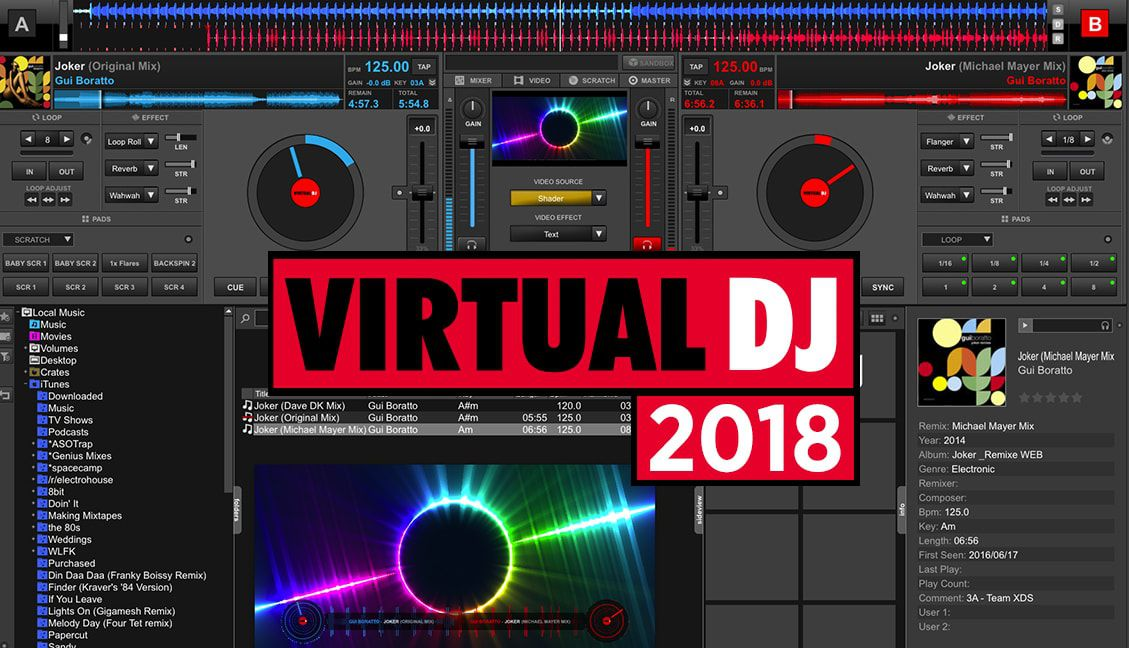 VirtualDJ 2018 Beta: Videoskins + Shaders, Scratch Automation