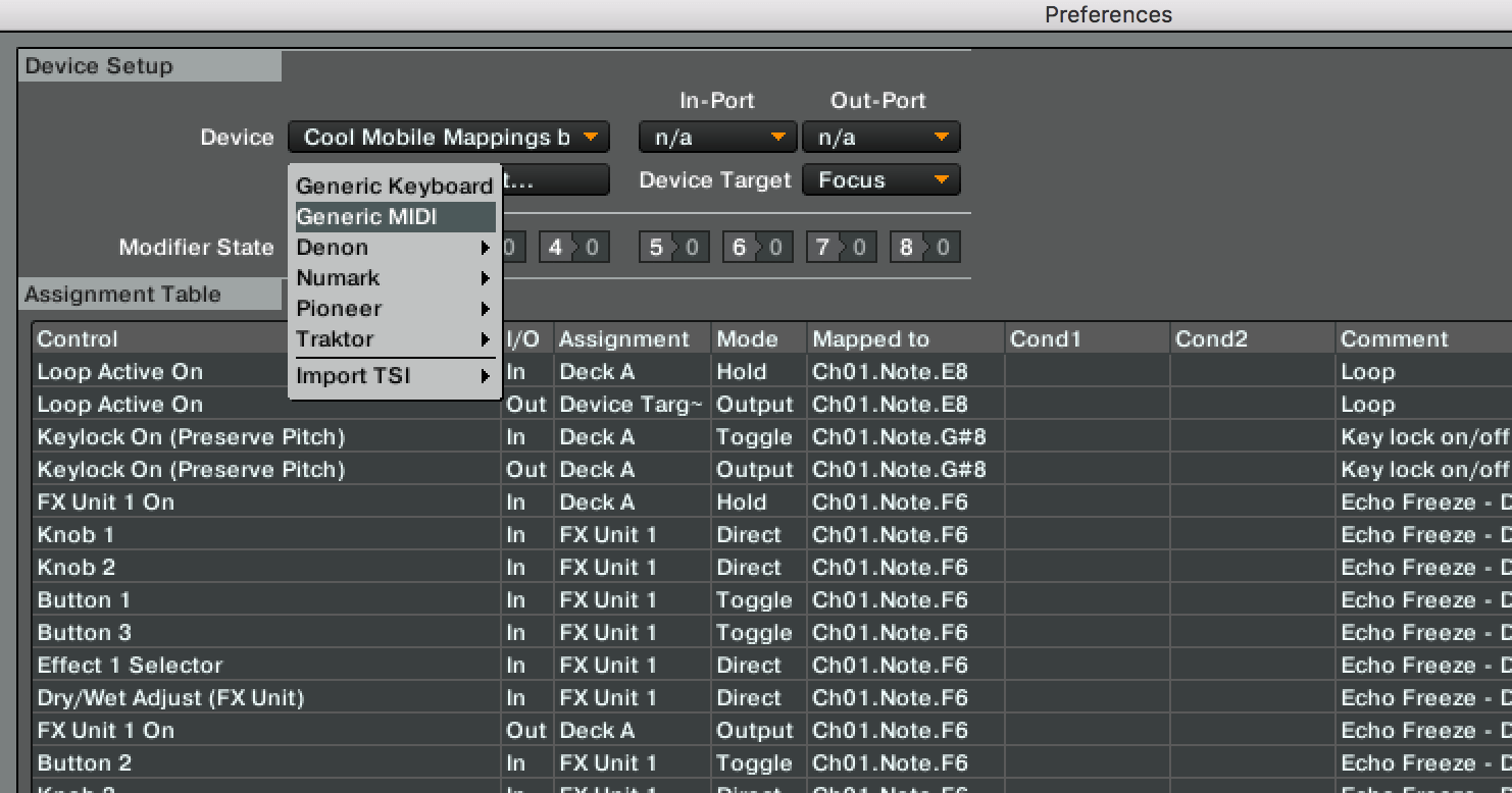 Virtual Dj Mapping Commands