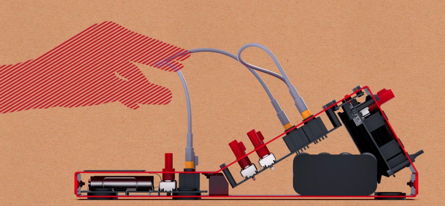 pocket operators go modular  full chassis   module system