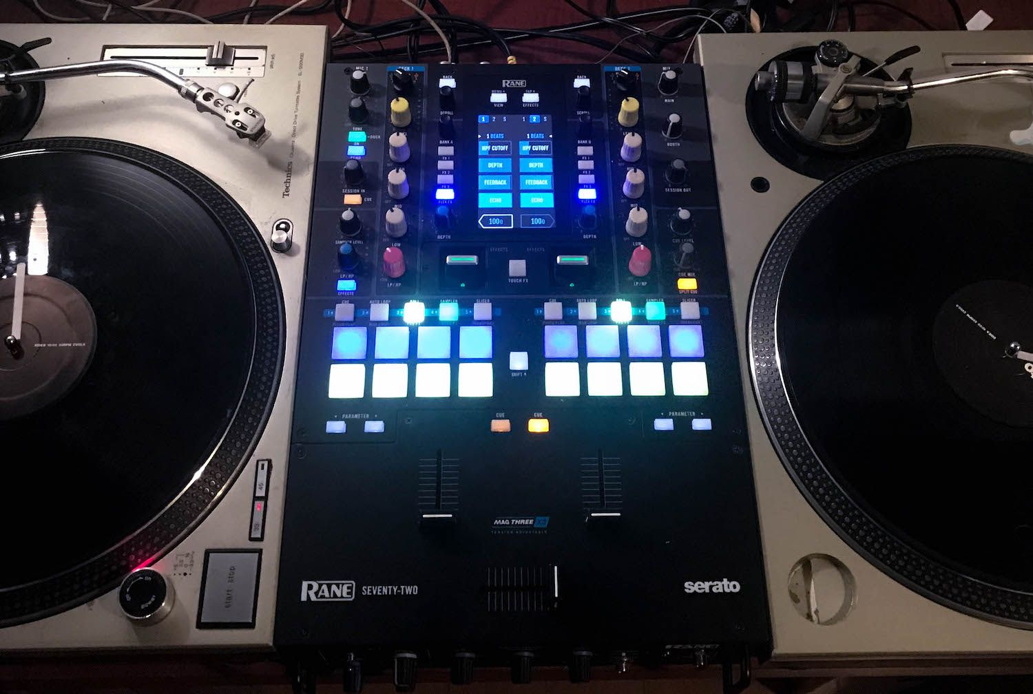 Rane Seventy-Two with turntables