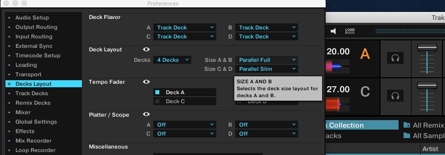 Tooltips in Traktor Pro 3.1's preferences