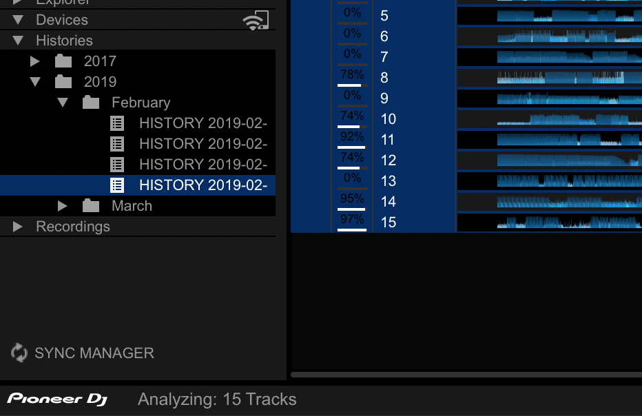 Track analysis in Rekordbox