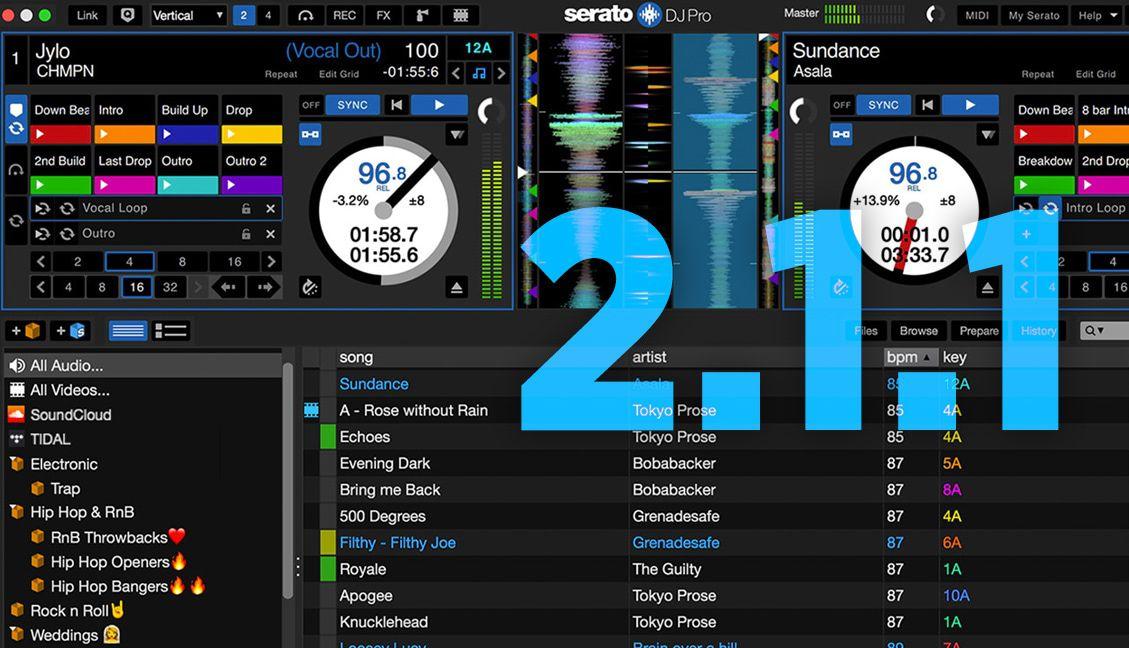Serato DJ Pro 2.1.1 released