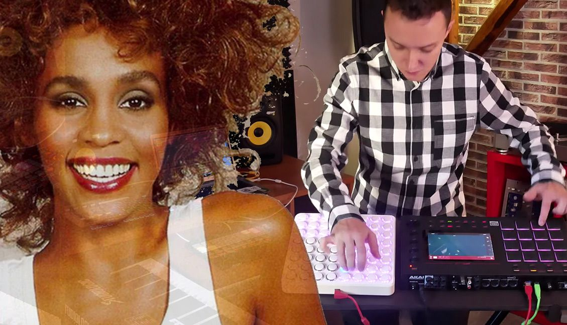 A Midi Fighter 64 Rigged Into An MPC Live, Plus Whitney Houston
