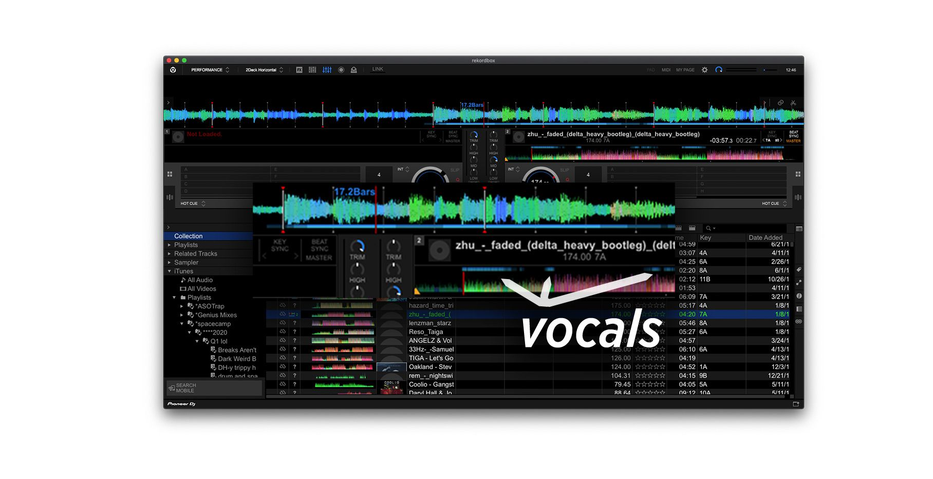 Vocal Detection in rekordbox 6.0.1