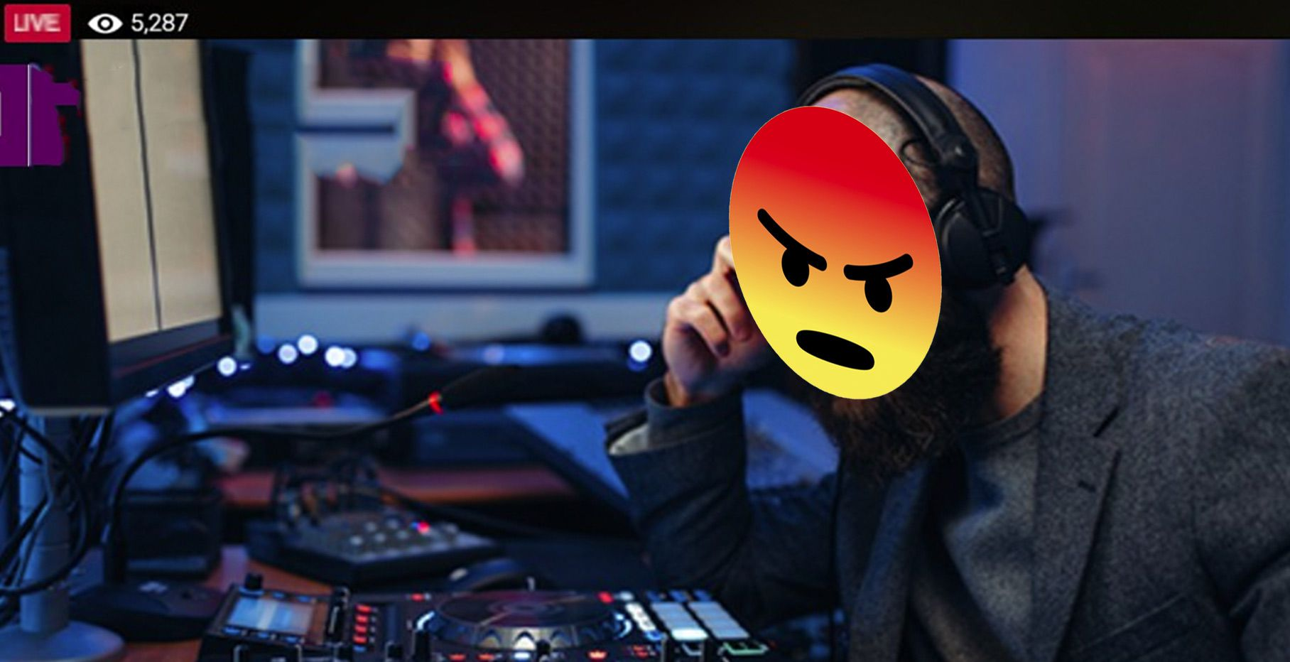 facebook live angry DJ