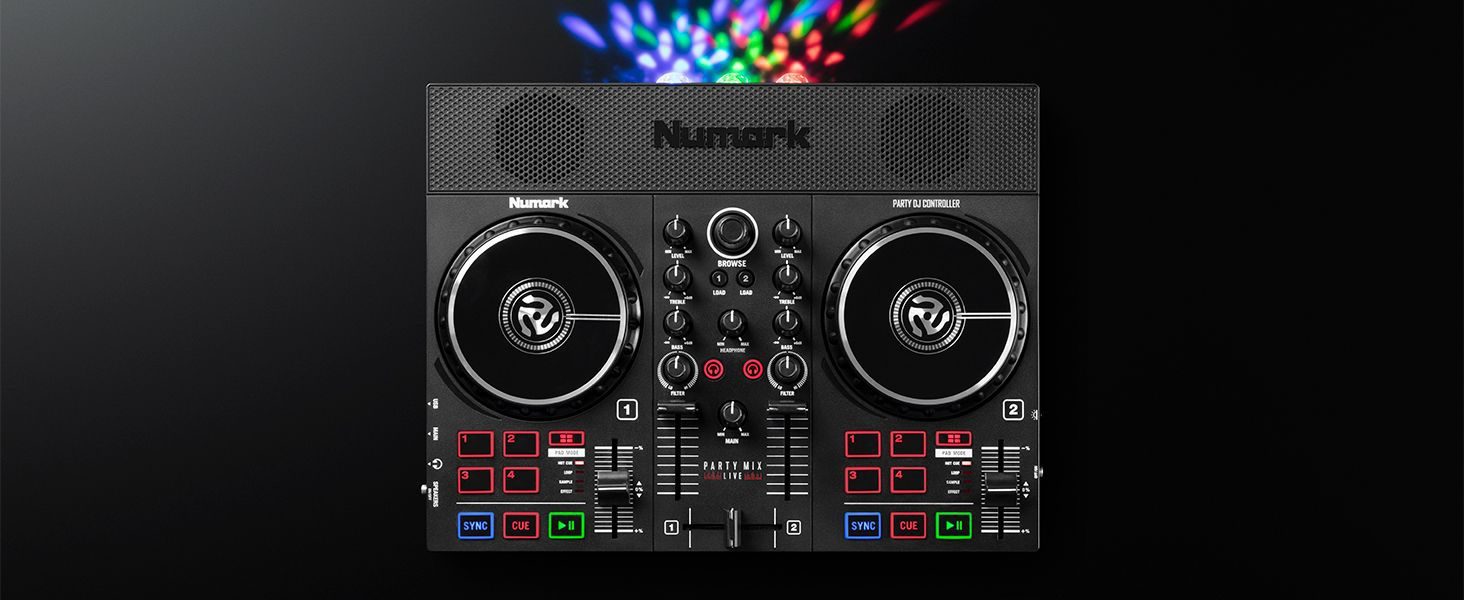 Numark Party Mix $129 / $179 controllers – entry-level digs with streaming libraries, built-in speaker
