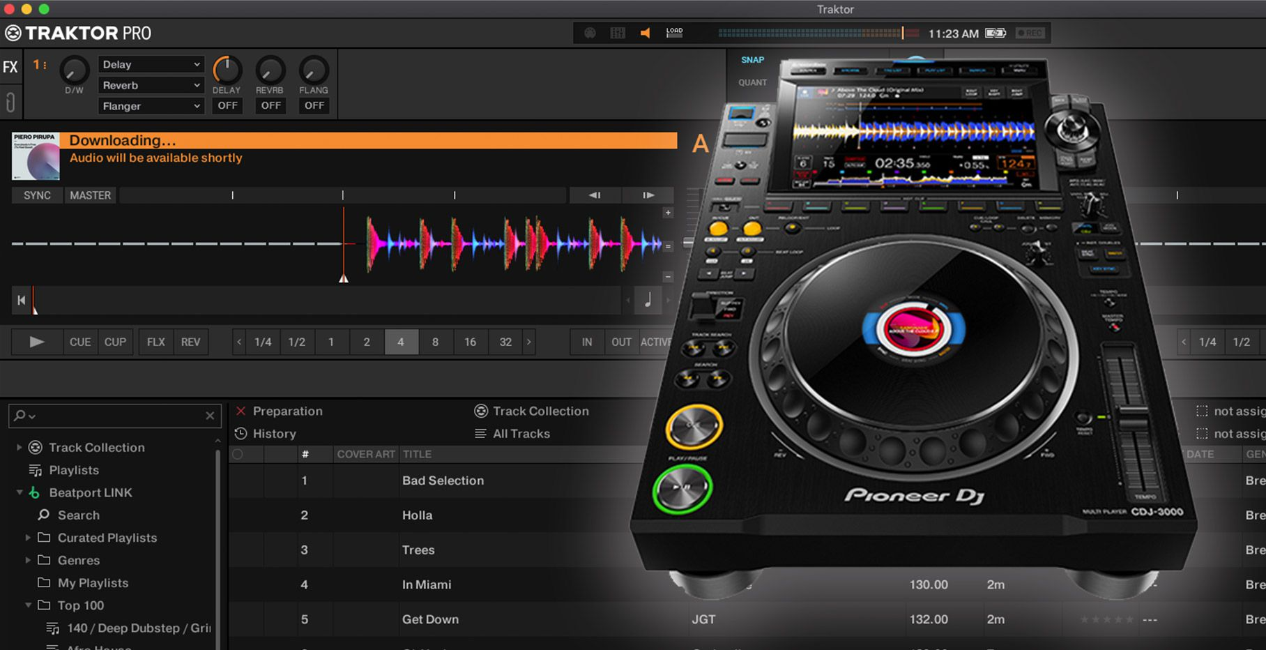 Traktor Pro 3.5 with streaming and CDJ-3000 HID integration